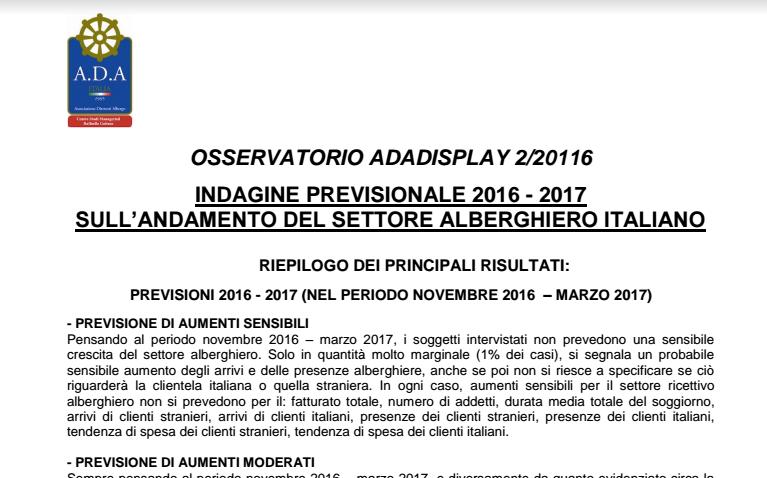 Report sintetico n . 2 Osservatorio ADADisplay Rel 27 12 2016