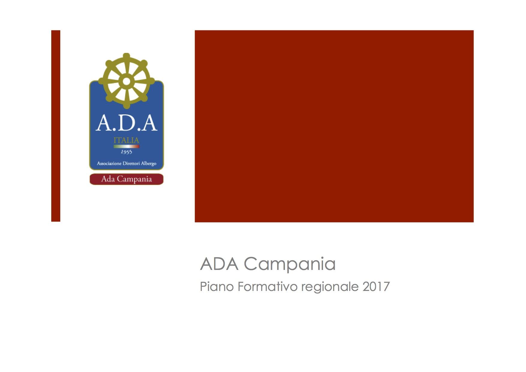 Piano Formativo Regionale 2017 – ADA Campania